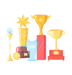collection of various awards vector image