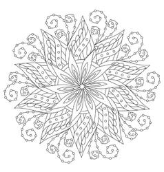 Coloring Beautiful Vintage Mandala vector image