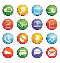 Communication icon set vector
