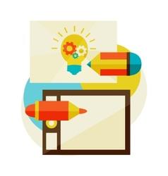 Creation of ideas vector