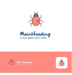 creative bug logo design flat color logo place vector image