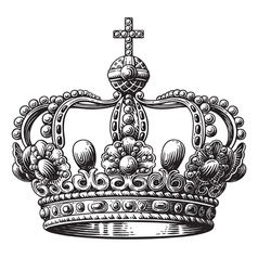 Crown hand-drawn vector image