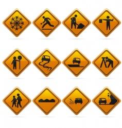 Diamond road signs vector