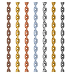 different material and color style chain set vector image