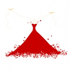 Dress on hanger vector