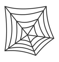 editable stroke spiderweb halloween thin line icon vector image