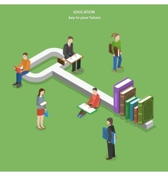 Education flat isometric concept vector