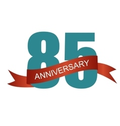 Eighty Five 85 Years Anniversary Label Sign for vector image