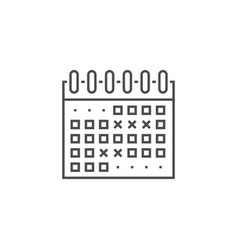 Events calendar line icon vector