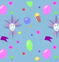 festive carnival pattern vector image