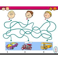 Find path task for children vector