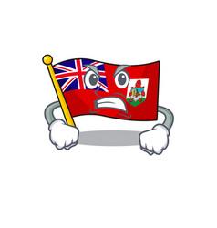 Flag bermuda isolated cartoon mascot angry vector