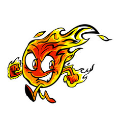 flame cartoon character vector image