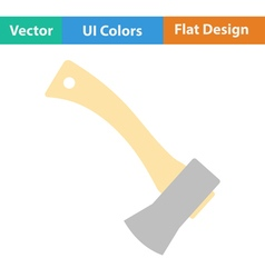 Flat design icon of camping axe vector image
