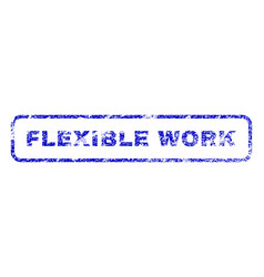 Flexible work rubber stamp vector