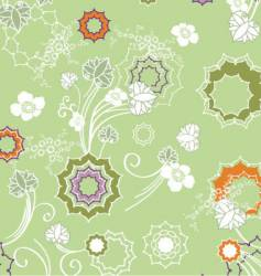 Floral fashion pattern vector