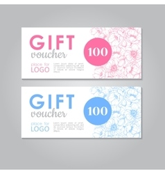 Gift Voucher business discount template vector