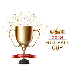 golden cup realistic football finals vector image