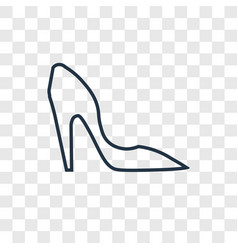 high heels concept linear icon isolated on vector image