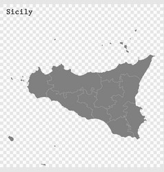 High quality map is a state italy vector