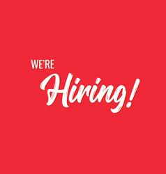 Hiring banner background hr hire now job vector