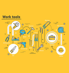 House repair tools hummer drill pliers toolbox vector
