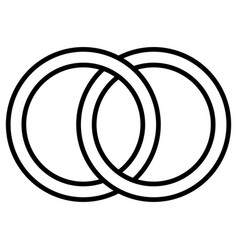 interlocking circles icon sign outline rings vector image