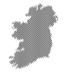 Ireland island map population demographics vector