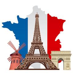 landmarks france vector image