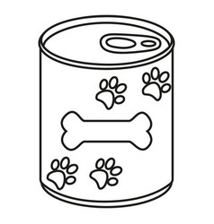 line art black and white canned pet food vector image