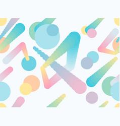 Liquid color shape seamless pattern geometric vector