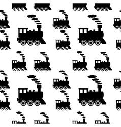Locomotive seamless pattern vector