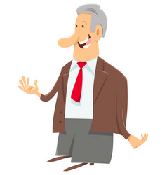 manager businessman or boss character vector image