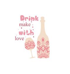 Modern indian red design for alcohol bottle vector