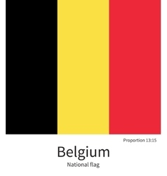 National flag of Belgium with correct proportions vector image