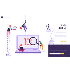 Online job search concept landing page people vector