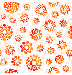 orange color abstract seamless circles design vector image