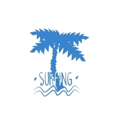 Palm tree with text print vector