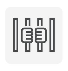 prison prisoner icon vector image