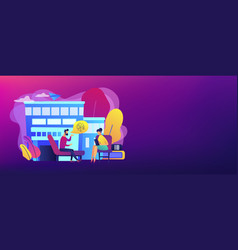 Psychologist service concept banner header vector