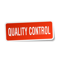 Quality control square sticker on white vector