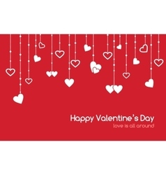 Red greeting card for Valentines Day vector