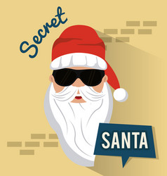 secret santa cartoon vector image