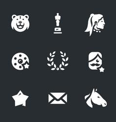 Set of movie award icons vector