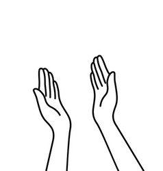 simple thin line hands like highfive vector image