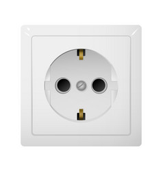 Single electrical socket type f receptacle from vector