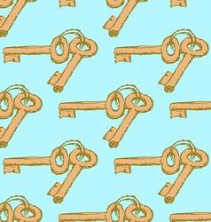 Sketch keys in vintage style vector image