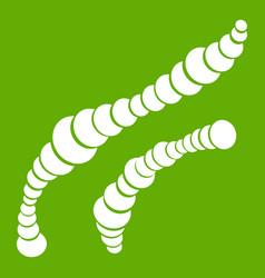 Spiral bacteria icon green vector