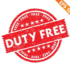 Stamp sticker Duty free collection - - EPS1 vector