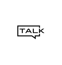 talk chat bubble logo icon vector image